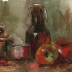 01 - Releitura artista Qiang Huang - Aquarela e guache