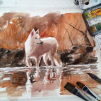 26 - Wolf - Aquarela
